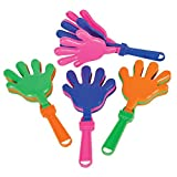 """7.5"""" hand clappers One dozen per order Variety of colors Perfect for sports games Ages 3+"""