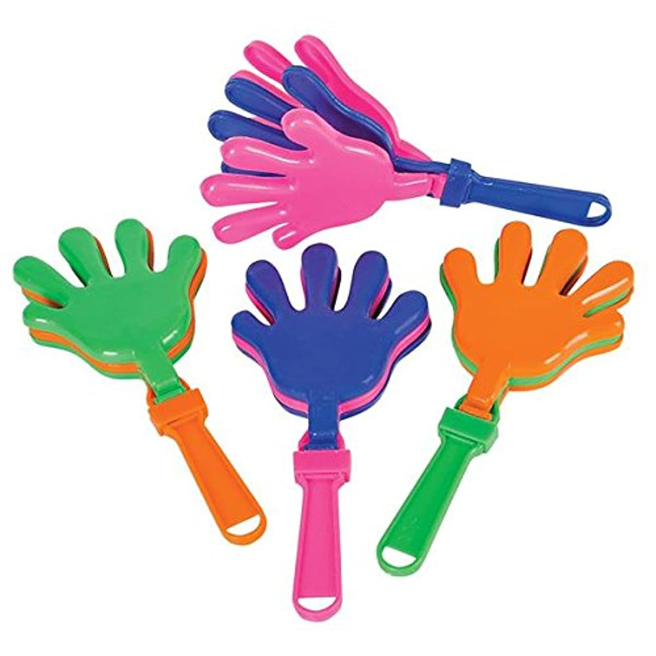 Rhode Island Novelty 12 Hand Clappers Noisemakers Favors 7.5