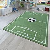 TT Home Alfombra Infantil Juego para Dormitorio Infantil con Campo De Fútbol En Verde, Größe:80x150 cm