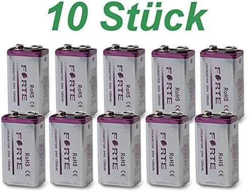 Edi Tronic 10 X 9v Forte Er9v Lithium Block Battery Elektronik