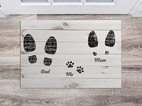 Oedim - Zerbino in PVC con Impronte di Zampe, 60 x 40 cm, Tappeto in PVC, per Pavimento in Vinile, Decorazione per la casa, Pavimento Sintasol, Protezione per Bambini