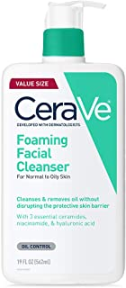 CeraVe Foaming Facial Cleanser | 19 Fl Oz | Daily Face Wash for Oily Skin | Fragrance Free
