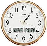 CASIO(カシオ) 掛け時計 電波 デジタル ウェーブセプター 温度 湿度 カレンダー 表示 ブラウン ITM-200J-5JF