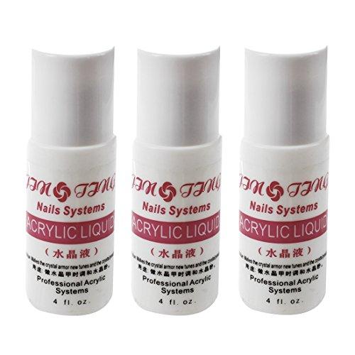 Nrpfell 75ml Poudre Acrylique Liquide Faux Conseils Nail Art UV Gel Polonais Acrylique Nail Outil Quantité: 3pcs