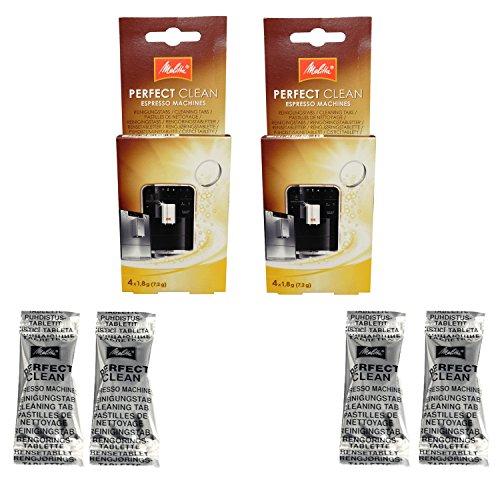 Melitta Perfect Clean Lot de 2 paquets de 4 pastilles de nettoyage (1,8g) pour machines à café