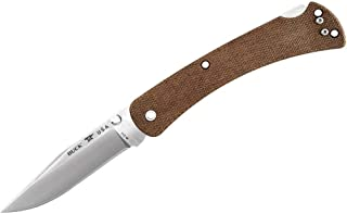 Buck Knives 110 Slim Pro Lockback Pocket Knife with Thumb Studs and Removable/Reversible Deep Carry Pocket Clip