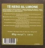 Note d'Espresso - Cápsulas de té Negro, al limón exclusivamente compatibles con cafeteras Nespresso, 40 unidades de 2g