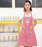 Eastery Schürze Kochschürze Latzschürze Gastronomie Grillschürze Küchenschürze Frau Ärmellos Schürzemit Taschen Einfacher Stil Für Frauen Männer Chef (Grün) (Color : Kaffee, Size : Size) - 5