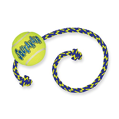 KONG - Squeakair Ball with Rope - Pelotas Tenis sonoras