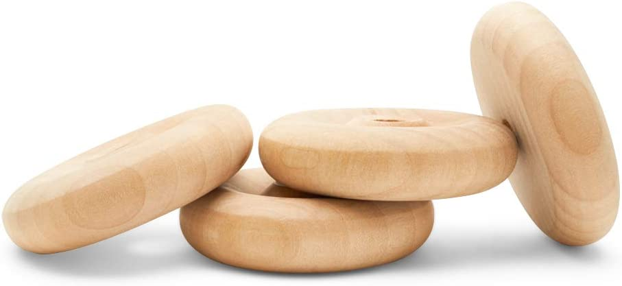 Classic Wooden free shipping Toy Wheels Great for Over item handling 2 Crafts Too Inch 2-1 Diam