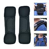 VIEEL 1 Pair GlueReplacement Shoulder Pad & Strap for Camera,Backpack,Messenger,Laptop,Guitar,Bag - Fastener Adjustable Shoulder Pads Long and Comfortable Point Beads Shoulder Pad (Black 2)