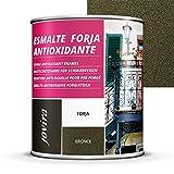 ESMALTE FORJA ANTIOXIDANTE, proteccion y decoracion sobre acero. (2.3 LITROS- 4 Kilos, BRONCE)