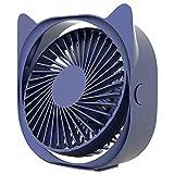Release Mini Ventilador de Escritorio con ángulo de 360 Grados, Ventilador eléctrico portátil Ajustable, 3 velocidades de Viento, Mini Ventilador Ajustable, Herramientas de enfriamiento de Verano