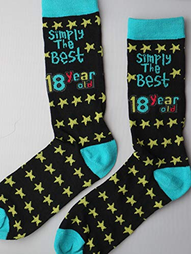 SHATCHI 18th Birthday Simply The Best 18 Year Old Gift Novelty Socks presents for Him Her Boys Men...