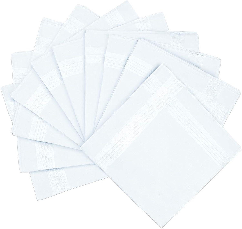 Pack Of 10 Handkerchiefs