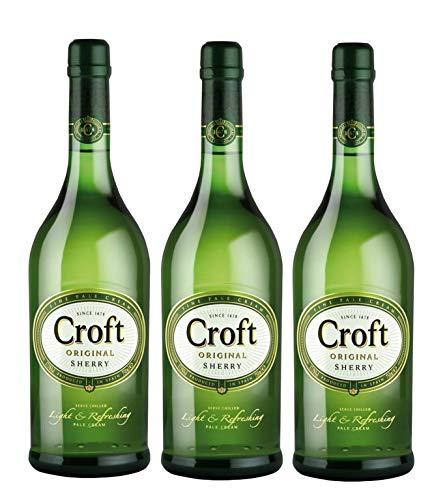 Croft Original Pale Cream - Vino D.O. Jerez - 3 botellas x 1000 ml - Total: 3000 ml