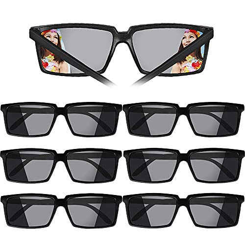 VINFUTUR Gafas Decorativas, 6pcs Gafas Plásticas Espía Gafas Juguetes Glasses Spy Espionaje de Visión Trasera Adornos para Disfraz Fiesta Regalo