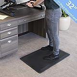 Seville Classics MSC55929 AIRLIFT 32' Standing Desk Ergonomic Comfort Mat Commercial Office Home Garage Kitchen Rug, Black