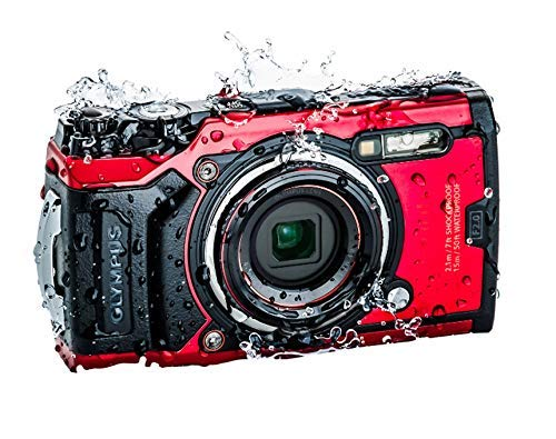 (Renewed) Olympus TG – 6 Red Water Proof Camera, 12 MP, 4X Zoom Lens, LCD Rear Screen