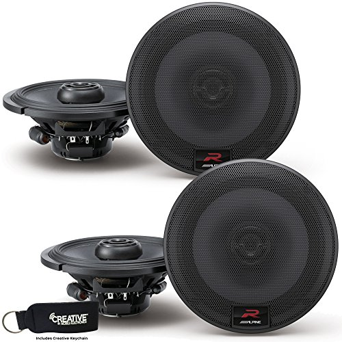 Alpine R-S65 Bundle - Two Pairs of Alpine R-S65 6.5 Inch Coaxial 2-Way Speakers