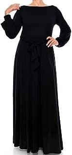Black Bell Long Sleeve Maxi Dress