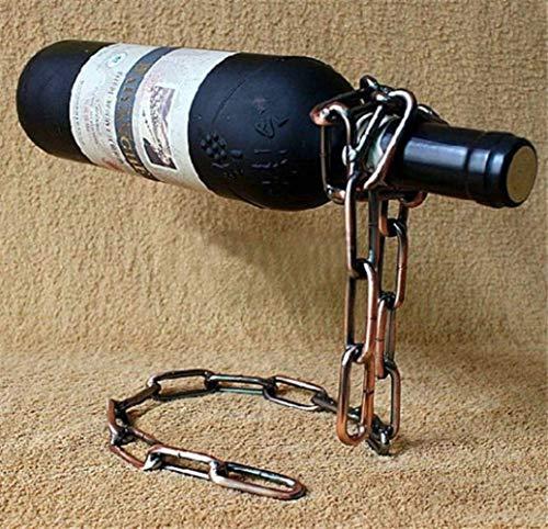 Estante de vino Escultura Cadena mágica creativa Estante de vino Suspensión Estante de vino Artesanía Hogar Necesidades diarias Almacenamiento de vino tinto Soporte de vino para decoración del hogar