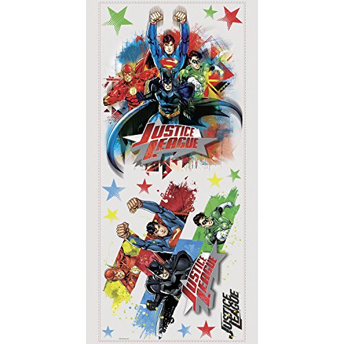RoomMates Stickers géants repositionnables Justice League DC Comics 25,4CM X 45,7CM