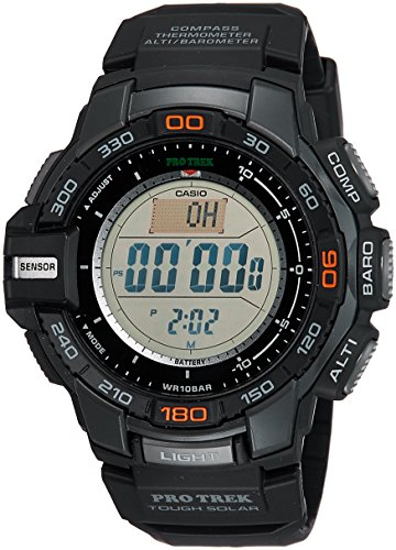 Casio Men's Pro Trek PRG-270-1 Tough Solar Triple Sensor Multifunction Digital Sport Watch Change Time Casio G-shock Watch
