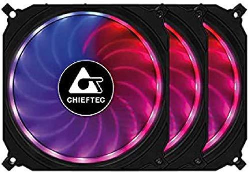 Case Fan 120mm 3-RGB Set/TORNADO CF-3012-RGB Chieftec