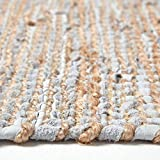 Homescapes Flickenteppich Madras, Naturfaser-Teppich aus recyceltem Leder und Hanf, 120 x 180 cm, Natur - 2
