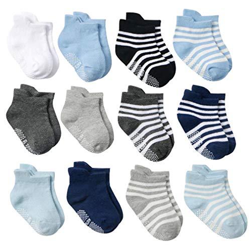 DEBAIJIA 12 Paar Baby Ankle Socken Baumwolle Kleinkinder Jungen Mädchen 1-3 Jahre Alt Niedliche Weich Casual Bequem Süß Atmungsaktiver - M