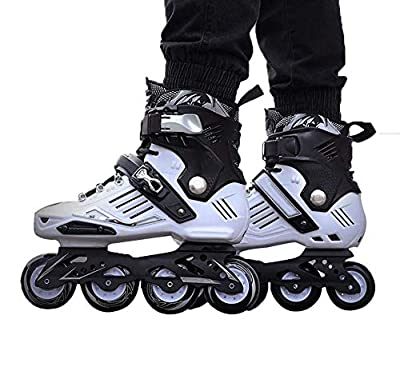 hongyes Roller Skates Inline Skates Speed Skating Shoes Inline Skates for Adult Single Row Roller Blades Professional Inline Carbon Fiber Beginner Sports Outdoors Recreation Fitness for Men and Wome