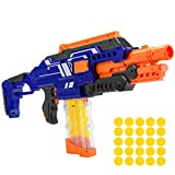 Best Choice Products Electric Motorized Soft Foam Ball Rapid Fire Blaster Toy w/Easy Access Magazine, 25 Balls