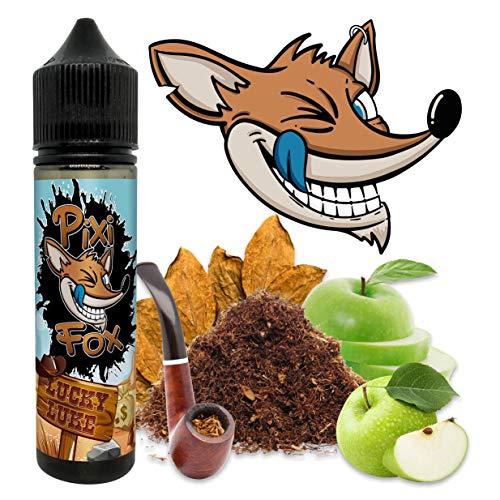 E-Liquid LUCKY LUKE | SABOR Tabaquil con Toque de Manzana Verde | PixiFox | 60 ml TPD | 0MG | 70 VG / 30 PG | E Liquido de Vapeo para Vaper