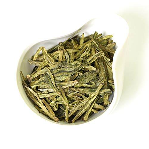 GOARTEA 100g (3.5 Oz) Organic Premium West Lake Xihu Long Jing Longjing Dragon Well Spring Loose Leaf Chinese Green TEA Tee