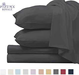 1000 Thread Count Cotton Sheets Queen Dark Grey, 100% Long Staple Cotton Sateen Queen Sheets, Luxury Bed Sheets Deep Pocket fit Upto 15 inch (1000 Count 100% Cotton Sheets Queen Charcoal Gray)