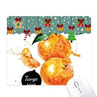 タンジェリン・フルーツのおいしい健康的な水彩画 ゲーム用スライドゴムのマウスパッドクリスマス