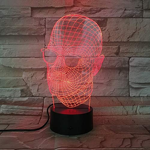 Vidrio Lámpara de mesa 3D Regalo de juguete para niños Escritorio de luz LED Decoración de Halloween Regalo Kid Holiday USB Lava Boys Gift