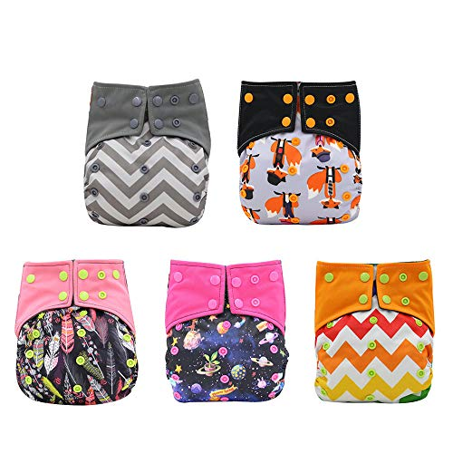 Baby Charcoal Bamboo All-in-one AIO Baby Cloth Diaper One...