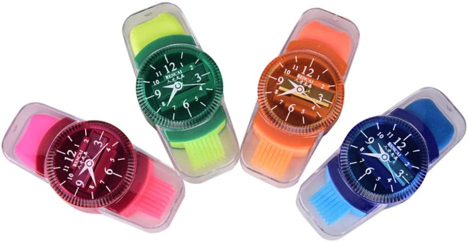 HJPOQZ Lovely Wristwatch Modeling Pencil Now free shipping a Eraser with Washington Mall Sharpener