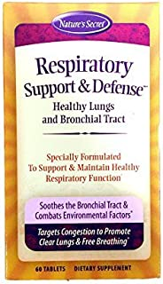 Nature's Secret Respiratory Support & Defense, 60-Count Bottles (Pack of 3) by Nature's Secret
