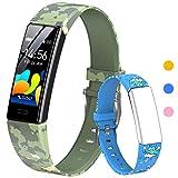 HOFIT Pulsera Actividad para Niños, Reloj Inteligente con Podómetros, Monitor de Frecuencia Cardíaca y Sueño, Cronómetro, Ip68 Resistente Pulsera Deportiva, Smartwatch con 2 Pulseras (Azul)