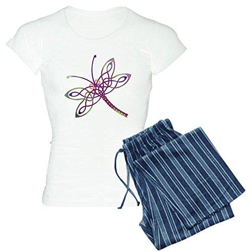 CafePress Celtic Dragonfly Pajamas Womens Novelty Cotton Pajama Set, Comfortable PJ Sleepwear