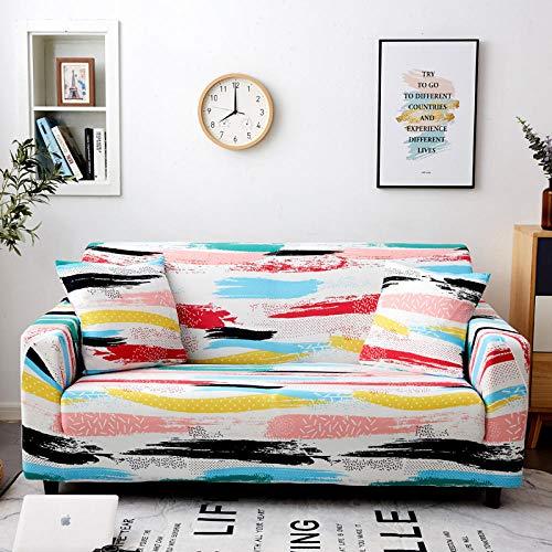 B/N Für ledersofa Haustier Hund & Kinder,Sofa SlipCover für Möbel, elastische Stretch-Sofabezug, SlipcoversAll-Inclusive Couch Case für Verschiedene Formen Sofa-W_145-185cm