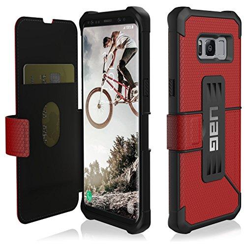 UAG Coque de Protection pour Galaxy S8 Motif Métropolies Rouge