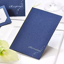 招待状手作りキット「ナイトブルー」10名様分(返信用ハガキ無地) /結婚式