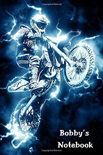 Bobby's Notebook: Personalised Motocross Bike Cover Notebook | 160 Ruled Pages | 6x9 Journal | Paperback Diary | Glossy Finish