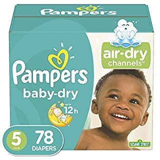 Diapers Size 5 - Pampers Baby Dry Disposable Baby Diapers, 78 Count, Super Pack, (Packaging May Vary) (B00FMWX6T8) | Amazon price tracker / tracking, Amazon price history charts, Amazon price watches, Amazon price drop alerts