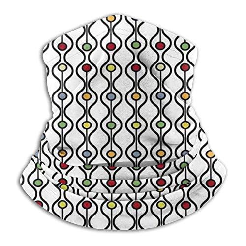 shotngwu Kurzschlussmaske Abstrakt Bauhaus Modern Mitte Jahrhundert Wellen Gesichtsmaske Schal Bandanas Halstuch Kopfbedeckung Staub Wind UV Sonnenschutz für Festivals und Outdoor