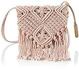 MTNG IRIA, Bolso bandolera para Mujer, Rosa (Crochet Rosa), 3x18x24 cm (W x H x L)